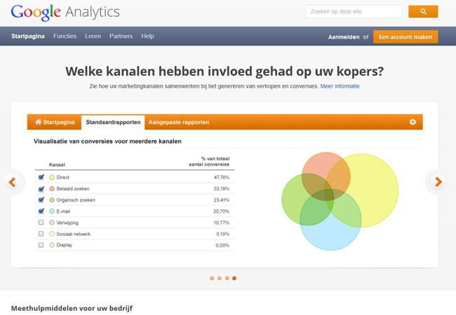 Google analytics instellen