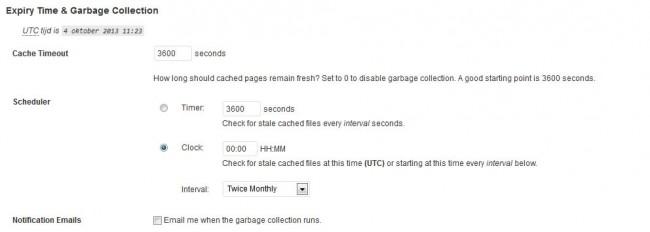 wp super cache installatie2