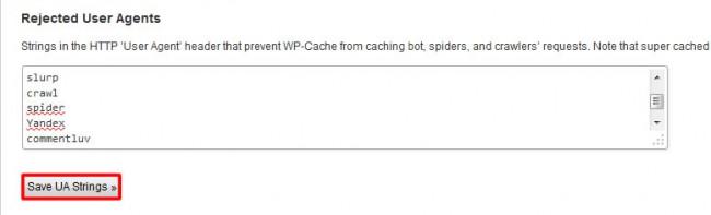wp super cache installatie3
